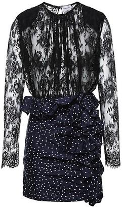 Magda Butrym Bartica Lace & Ruffle Mixed Dress