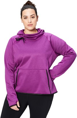 Core 10 Amazon Brand Women's Chill Out Fleece Cowl Sweatshirt (XS-XL 1X-3X)