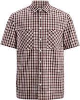 Joseph Check Shirting Colburn Shirt in White