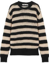 McQ Striped Wool-blend Sweater - Black