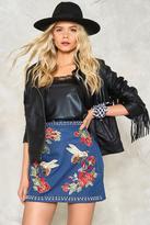 Nasty Gal nastygal Drew Denim Mini Skirt