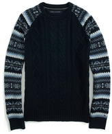 Tommy Hilfiger Fairisle Cable Crew Neck Sweater