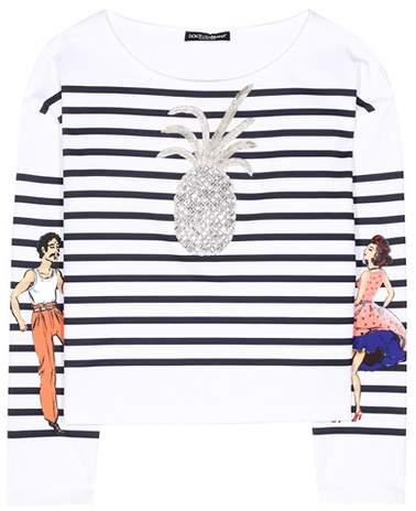 Dolce & Gabbana Striped cotton T-shirt