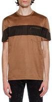 Lanvin Striped Tricot Pocket T-Shirt