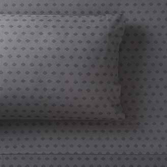 Pottery Barn Teen Surplus Cross Organic Pillowcases, Set of 2, Pale Gray