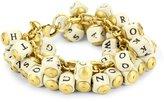 """Lenora Dame """"Bohemian"""" Alphabet Cluster Bracelet"""