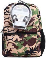 Camo Backpack & Headphones Set - Kids