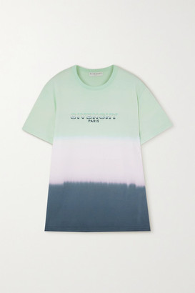 Givenchy Embroidered Degrade Cotton-jersey T-shirt - Mint