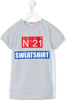 No21 Kids - logo print T-shirt dress - kids - Silk/Cotton/Spandex/Elastane/Acetate - 6 yrs