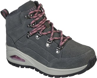 Skechers Uno Rugged Walking Lace Up Ankle Boot - Olive