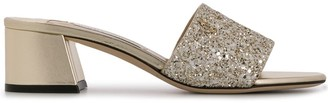 Jimmy Choo Minea 45mm glitter sandals