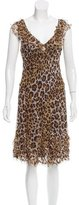 Moschino Cheap & Chic Moschino Cheap and Chic Leopard Printed Midi Dress