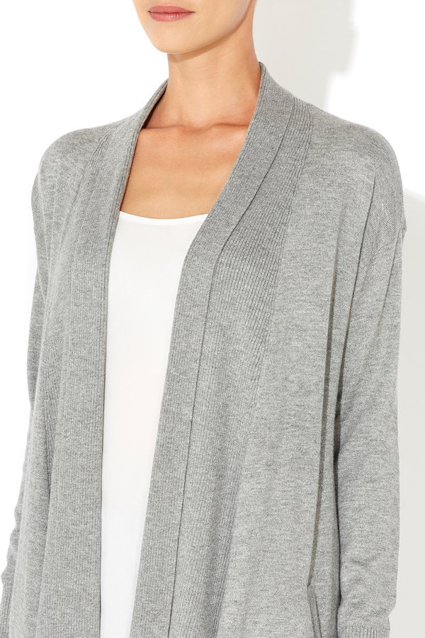 Wallis Grey Waterfall Cardigan