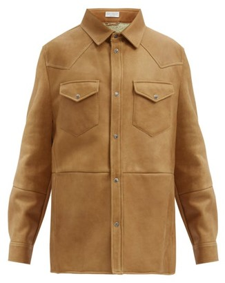 Brunello Cucinelli Western Shearling Overshirt - Brown