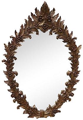 One Kings Lane Vintage Italian Carved Giltwood Mirror - gold