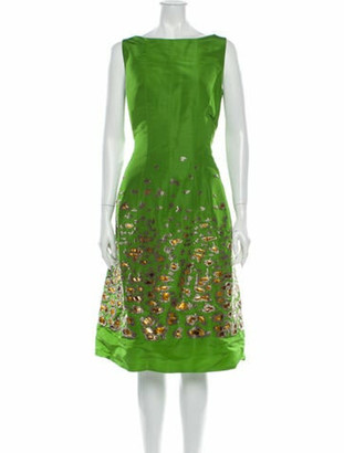 Oscar de la Renta 2008 Midi Length Dress Green
