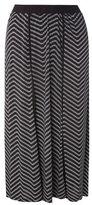 Evans Black Floral Print Midi Skirt