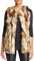 Love Token Riva Patched Faux Fur Vest