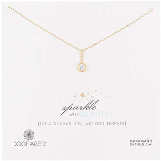 Dogeared Core Collection 14K Over Silver Crystal Necklace