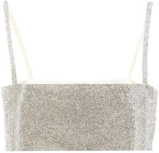 Nuè Charlotte crystal-embellished top