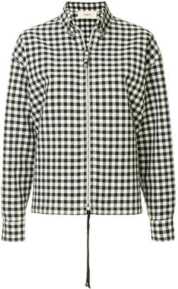 Ports 1961 gingham print zipped shirt