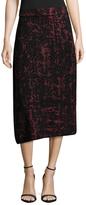 M Missoni Intarsia Asymmetrical Midi Skirt