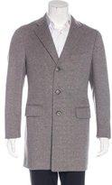 Isaia Three-Button Wool Overcoat