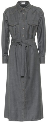 Brunello Cucinelli Virgin wool shirt dress