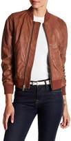 Andrew Marc Washed Leather Bomber Jacket