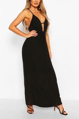 boohoo Twist Detail Strappy Maxi Dress