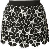 Alice + Olivia Alice+Olivia - floral macrame shorts - women - Polyester/Spandex/Elastane - 0