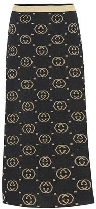 Gucci Wool-blend midi skirt