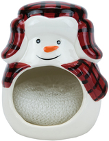 Boston Warehouse Buffalo Plaid Snowman Scrubber Holder