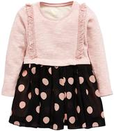 Mini V By Very Mini V By Very Girls Frill Sweat & Polka Dot Gorgette Skirt Dress