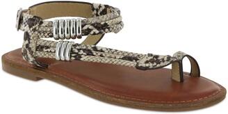 Mia Julianna Ankle Strap Snake Embossed Sandal