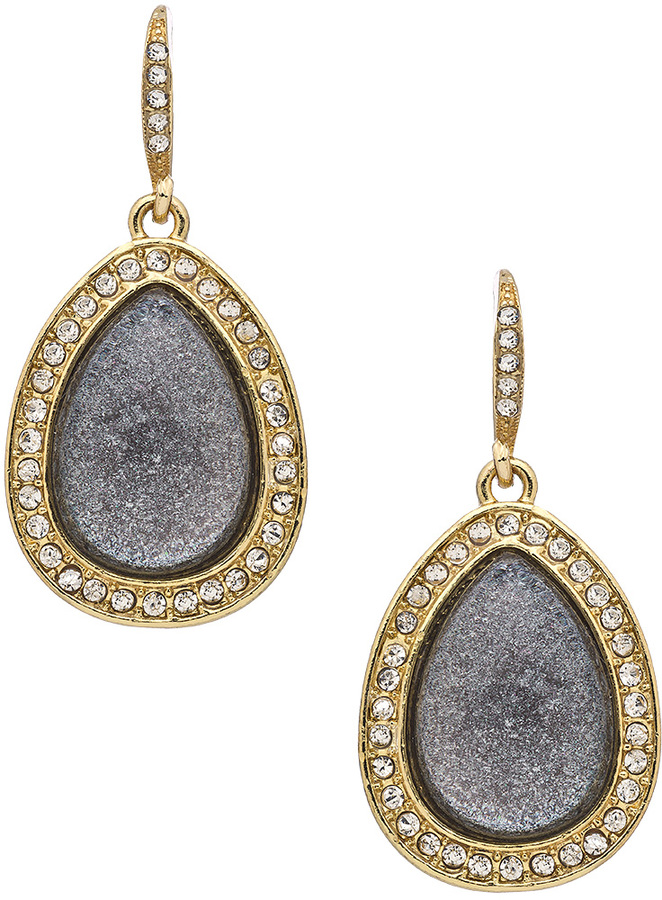 Blu Bijoux Faux Druzy Teardrop Earrings