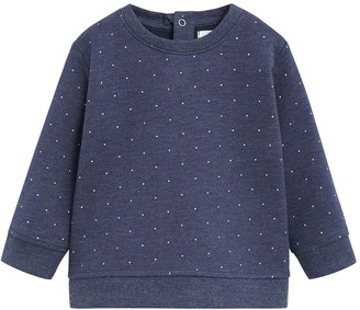 MANGO Baby Girls Spot Print Sweatshirt