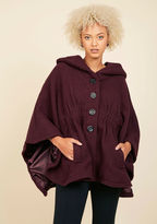 Steve Madden Hood if I Could Cape in Merlot in 1X