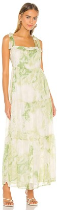 Line & Dot Palm Maxi Dress