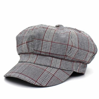 Thfsdfsj Beret Ladies Newsboy Hat Winter Warm Hat Painter Hat Sun Hat Travel Hat Baker Boys Women Peak Cap Retro Octagonal HatRed