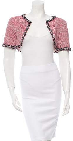 Chanel Tweed Metallic-Trimmed Bolero w/ Tags