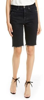 GRLFRND Beverly Cutoff Long Denim Shorts