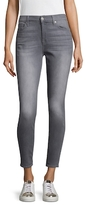 7 For All Mankind Faded Ankle Cotton Skinny Jeans
