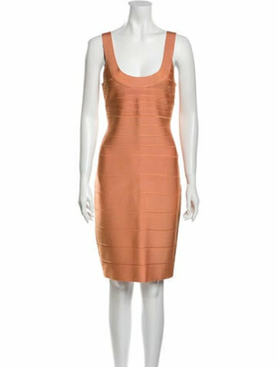 Herve Leger Papaya Mini Dress Orange