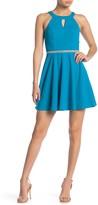 Love, Nickie Lew Embellished Waist Skater Dress