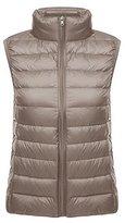 Ake Women's Ultra-Light Vest Down Puffer Jacket Windproof Coat