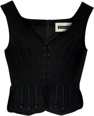 Plein Sud Jeans Black Wool Top for Women Vintage