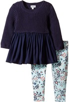 Splendid Littles Sweater Top and All Over Print Leggings (Infant)