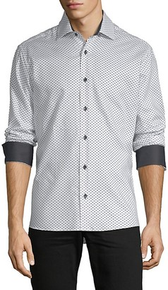 Bertigo Diamond-Print Long-Sleeve Shirt