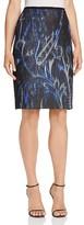 T Tahari Sloanne Paisley Print Pencil Skirt